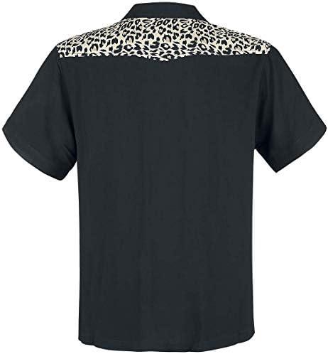 Chet Rock Estilo Vintage Hombres Jeffery Leopard Bowling Shirt Camisa De Bolos: Amazon.es: Ropa y accesorios