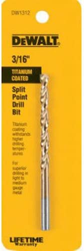 DEWALT DW1314 7//32-Inch Titanium Split Point Twist Drill Bit