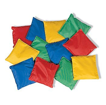 [Fun Express - Educational - Dozen 5in Assorted Nylon Bean Bags Toy] (Halloween Bean Bag Toss)