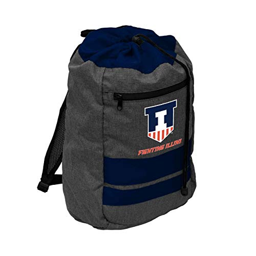 Logo Illinois Fighting Illini NCAA Journey Backsack - Navy,
