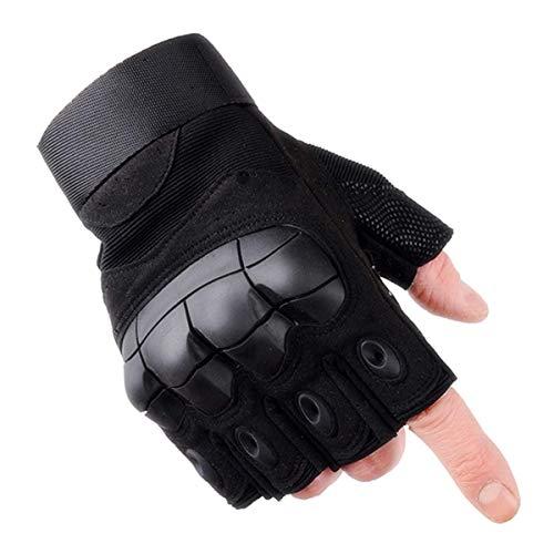 Selighting Gants Tactiques Demi Doigts Gants Moto Anti-dérapant Gants de Militaire d'armée pour Adulte (Noir, XL) 2