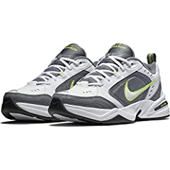Men's Nike Air Monarch IV Training Shoe sets you up for comfortable training with durable leather on top for support. A lightweight foam midsole with a full-length encapsulated Air-Sole unit cushions every stride in the Nike men's shoe.