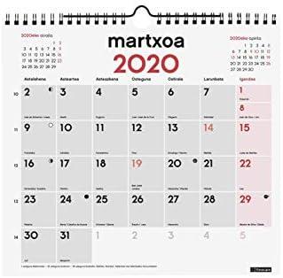 Finocam - Calendario de pared 2020 Escribir español: Amazon.es ...