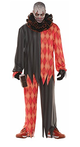Clown Costumes (Evil Halloween Clown Adult Costume)
