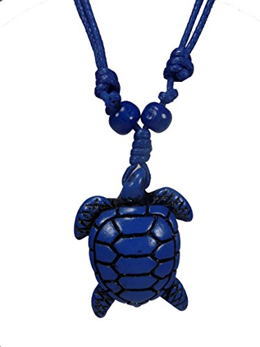 Turtle Necklace - Sea Turtle Necklace - Hawaiian - Turtle Necklace Blue