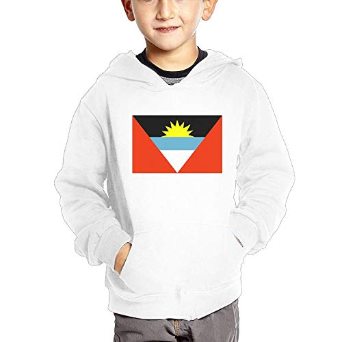 Antigua and Barbuda Flag Personality Hooded Pocket Sweater for Children Spring/Autumn/Winter Outfit Long-Sleeved -
