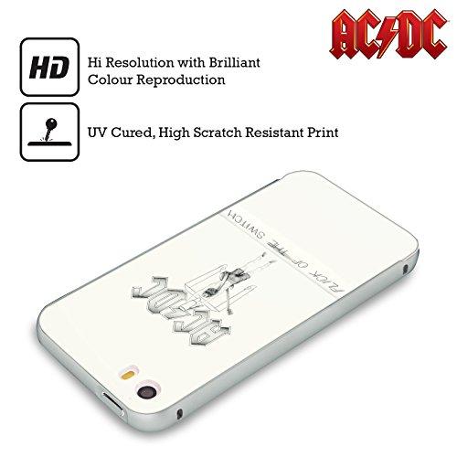 Officiel AC/DC ACDC Chiquenaude De l'Échange Couverture D'album Argent Étui Coque Aluminium Bumper Slider pour Apple iPhone 6 Plus / 6s Plus