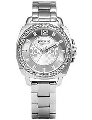 Coach Womens 14501699 Mini Boyfriend Silver Tone Bracelet Watch
