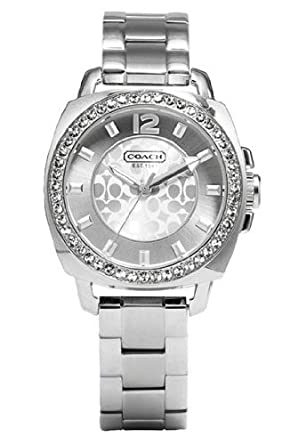 Coach Womens 14501699 Mini Boyfriend Silver Tone Bracelet Watch