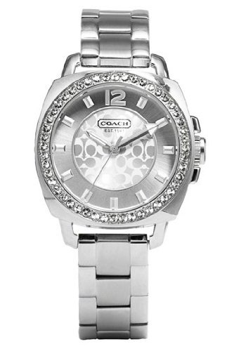 Amazon.com: Coach Womens 14501699 Mini Boyfriend Silver Tone Bracelet Watch: Coach: Watches