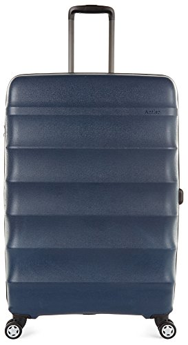 Antler Juno DLX 30'' Expandable Hardside Checked Spinner Luggage (Navy) by Antler