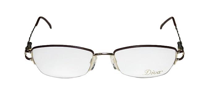 c1d5decdd047 Diva 5251 For Ladies Women Designer Half-rim Strass Gorgeous Elegant  Fashion Accessory Eyeglasses
