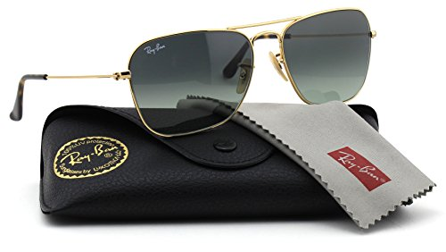 Ray-Ban RB3136 181/71 Unisex Caravan Sunglasses (Havana Gold Frame / Grey Gradient Lens 181/71, - Gold Ban Caravan Ray