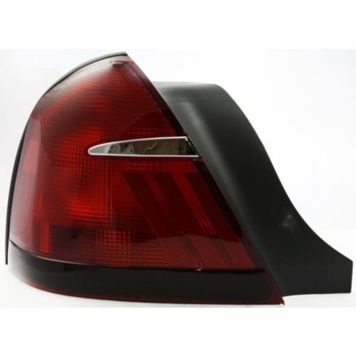 Go-Parts ª OE Replacement for 1999-2002 Mercury Grand Marquis Rear Tail Light Lamp Assembly Housing/Lens/Cover - Left (Driver) Side XW3Z 13405 AA FO2818124 for Mercury Grand Marquis