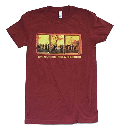Bruce Springsteen Seeger Sessions Girls Juniors Red T Shirt (S)
