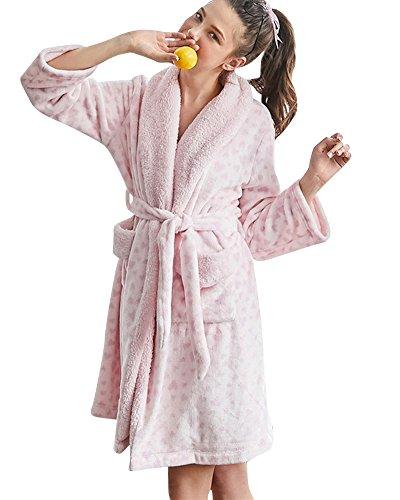 a Pink Camicia Da Caldo Notte Lunghe Morbido Donna Maniche Pigiama Ctgqwpff