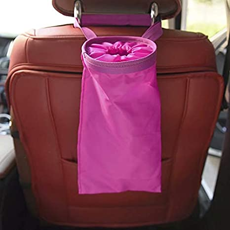 Car Garbage Trash Bin Carry Bag Sucker Trash Can Rack Hanger Organizer