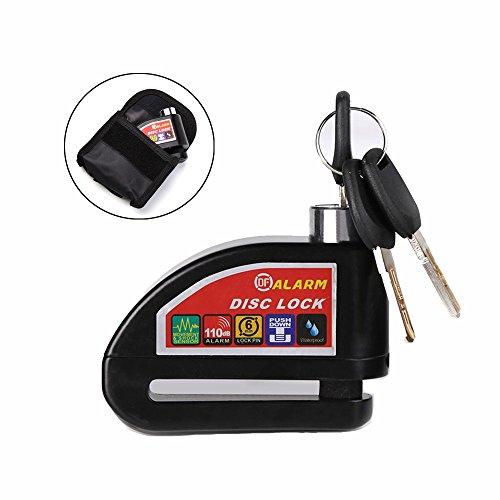 Motorcycle Scooter Bicycle Disc Brake Lock Security Anti-theft Alarm Lock Alarm Disc Brake Lock