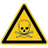 LEMAX® Aufkleber Warnung vor giftigen Stoffen ähnlich ISO 7010 ISO-W016 D-W00350mm