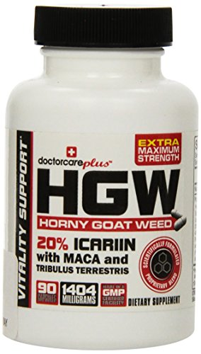 Horny-Goat-Weed-W-Maca-Root-Extra-Maximum-Strength-20-Icariins-Highest-Effective-Dose-Ever-1404-mg-Per-Serving-45-Day-Supply-90-Capsules-100-USA-Made-and-GMP-Certified-by-Doctor-Care-PlusTM-INTRODUCTO