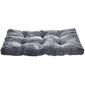 Amazon.com : AmazonBasics Padded Pet Bolster Crate Bed Pad ...
