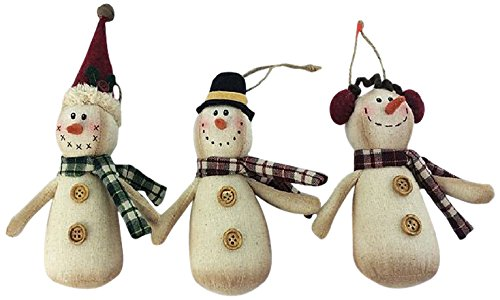 Craft Outlet 3 Piece Fabric Snowman Set, 3 by 1.25, used for sale  Delivered anywhere in USA
