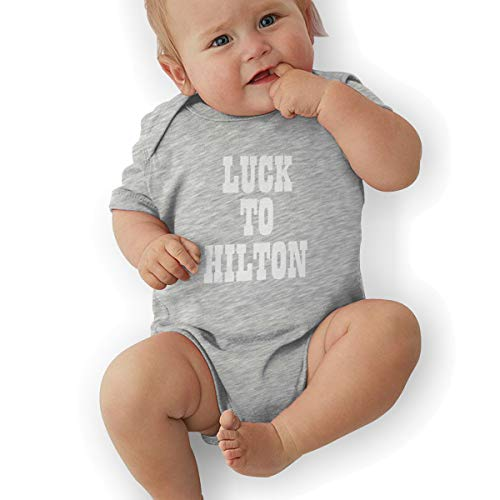 Moore Me Unisex Baby Onesie Bodysuit Blue Indianapolis Luck to Hilton Short-Sleeve Bodysuit for Boys and Girls