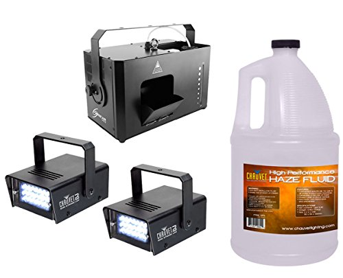 (Chauvet Hurricane Haze 4D HHAZE4D Machine + 2x Mini Strobe LED + Fluid Gallon )