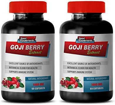 Weight Loss Fat Burner for Women - Goji Berry Extract Complex - Natural ANTIOXIDANT - Natural acai Berry - 2 Bottles 120 Capsules