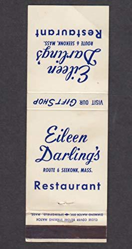 (Eileen Darling's Restaurant Route 6 Seekonk MA matchcover)