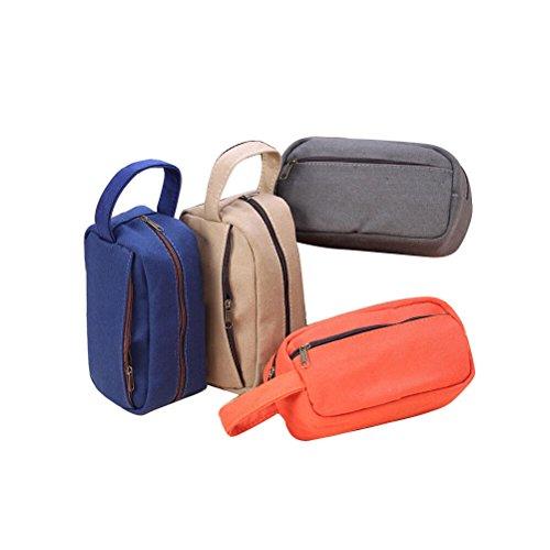 Samaz Cute Multi-Fuctional Pen Bag Pencil Case Cosmetic Makeup Bag Case, Set of 4 (#1)