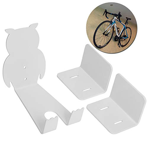 (WESTGIRL Bike Pedal Wall Mount, Horizontal Bicycle Storage Hanger Stand, Heavy Duty Pedal Hook Cycling Rack Garage Cycle Holder)