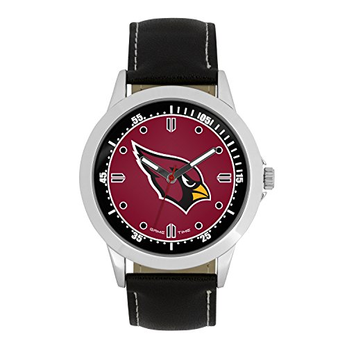 - NFL Arizona Cardinals Mens Player Series Wrist Watch, Silver, One Size