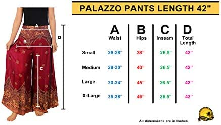 Lannaclothesdesign Womens 42 Inches Length Long Palazzo Pants Wide Legs S M L XL Sizes