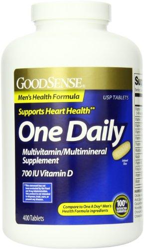 Здравый смысл один ежедневный Мужская Формула здоровья Мультивитаминный / Мультиминерал Дополнение, 400 Граф