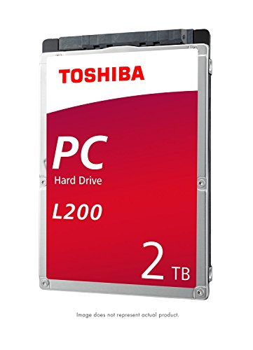 Toshiba HDWL120XZSTA L200 2TB Laptop PC Internal Hard Drive 5400 RPM SATA 6Gb/s 128 MB Cache 2.5
