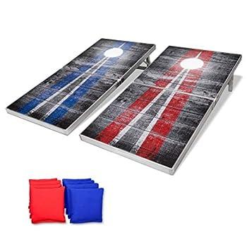 Image of GoSports LED Rustic Design Cornhole Set, Regulation Size
