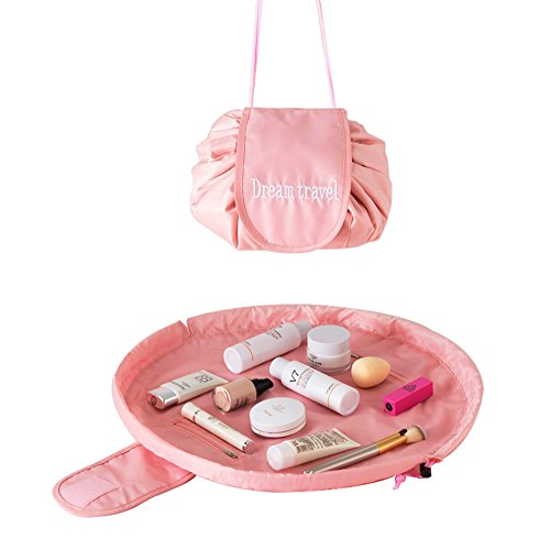 Portable Travel Magic Cosmetic Bag, Casual Large Capacity Lazy Makeup Bag, Toiletry Kit Organizer All-In-One Quick Pack Drawstring Storage Pouch (Magic Portable)