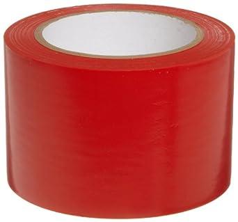 "Brady 108' Length, 3"" Width, B-725 Vinyl Tape, Red Color Aisle Marking Tape"