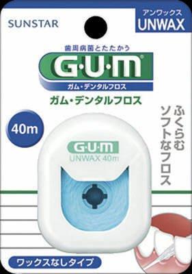 サンスター GUM デンタルフロス アンワックス 40m×60点セット (4901616210714) B00SB68GQ0