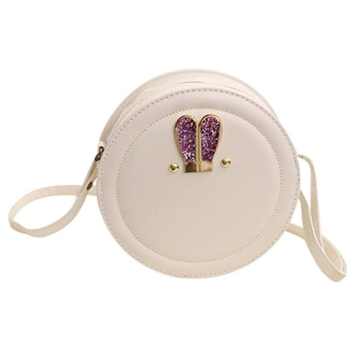 Mini Messenger Crossbody TOOGOO Bag Girls White Small Bags For Women Handbag Circular Bag R Cute naZqWqEX