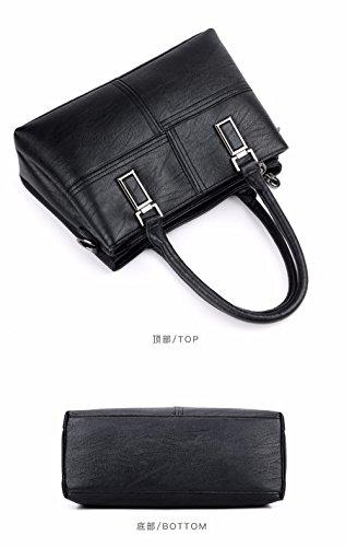 en Mode Unique à de Souple Style Sac épaule black capacité Cuir de Sac Nouveau Main Grande GQFGYYL Dames UZw6xtqw