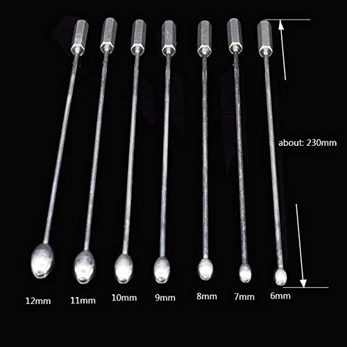 EVERYDI Stainless Steel Urethral Plug Male Urethral Dilator Penis Plug Urethral Sounding Toy for games tools