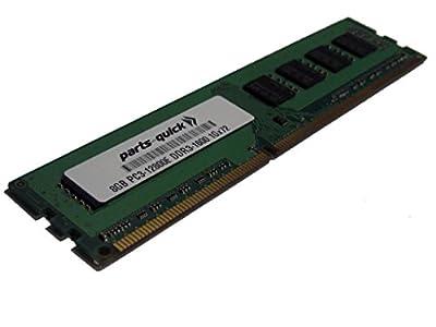 8GB Memory for HP ProLiant ML310e Gen8 v2 Server DDR3 PC3-12800E ECC RAM Upgrade (PARTS-QUICK BRAND)