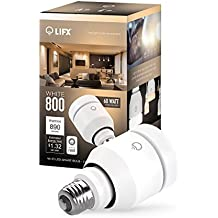 LIFX  Smart LED Light Bulb, Wi-Fi, 800-A19, Adjustable Whites, Dimmable, Works with Alexa