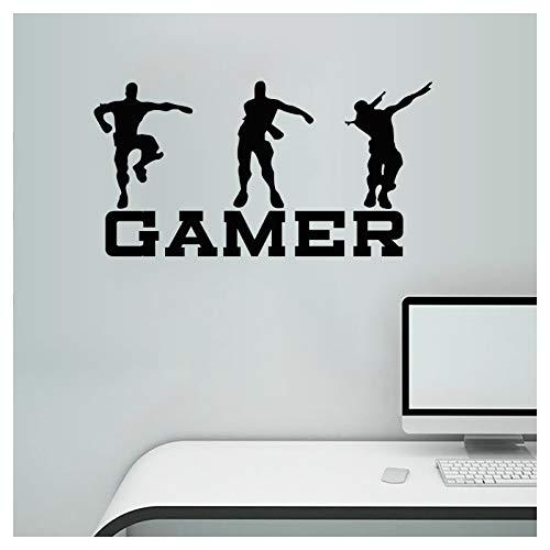 Pegatinas de pared para jugador, pegatinas de pared, vinilo de diseño de jugadores del mundo de jugadores, decoración de…
