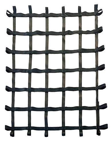 FONG 6' X 5' Climbing Cargo Net Black - Swing Set Accessories - Indoor Climbing net - Outdoor Playground Swing, Belt Swing, Playground Hanging Step Ladder (Black)