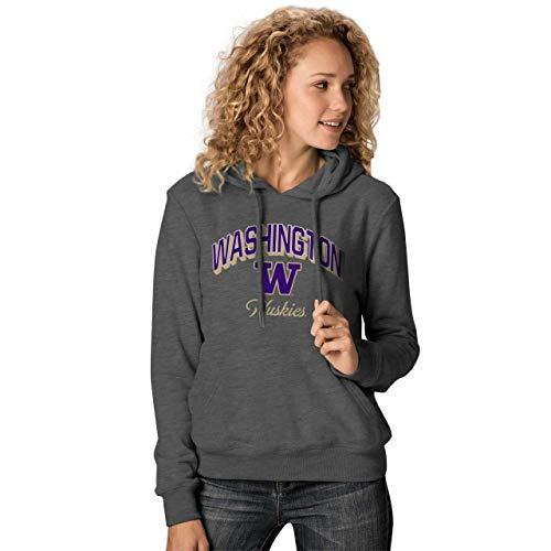 Washington Huskies Womens Premium Campus Classic Goodie Hoodie - Charcoal, Womens Medium