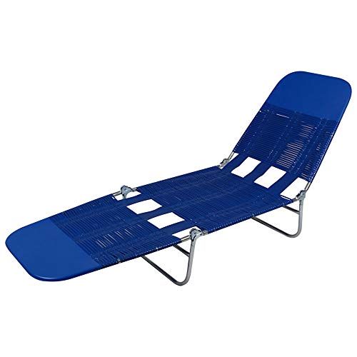 Cadeira Espreguiçadeira Pvc Azul Mor