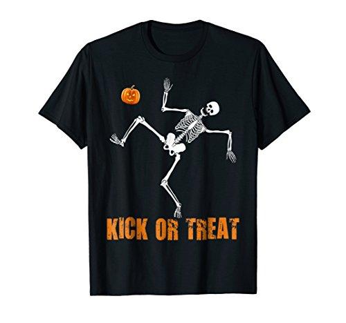 Kick Or Treating Halloween Soccer T-Shirt Pumpkin